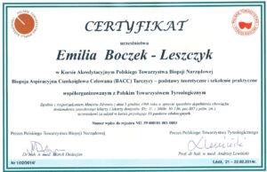 Emilia Boczek-Leszczyk - BAC tarczycy