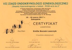 Emilia Boczek-Leszczyk - Endokryno ginekologizna 2017