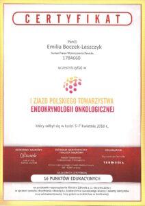 Emilia Boczek-Leszczyk - Endokryno onkologiczna