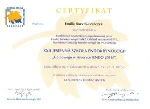 Emilia Boczek-Leszczyk - Jesienna szkoła 2016,2