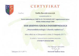 Emilia Boczek-Leszczyk - Jesienna szkoła 2017,2