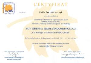 Emilia Boczek-Leszczyk - Jesienna szkoła 2018
