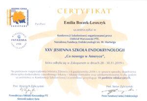 Emilia Boczek-Leszczyk - Jesienna szkoła 2019