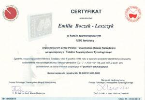 Emilia Boczek-Leszczyk - Usg tarczycy - zaawansowany