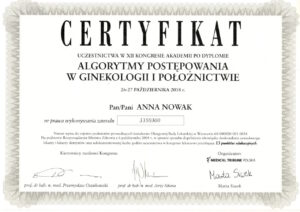 Anna Nowak - Certyfikat - Algorytmy