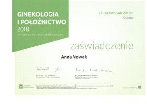 Anna Nowak - Ginekologia i połoznictwo - konferencja