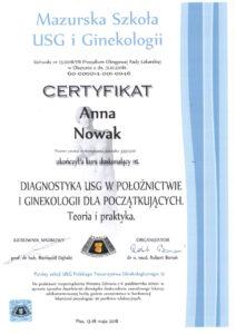 Anna Nowak - Mazurska szkoła usg