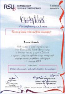 Anna Nowak - USG - basicis of fetal sonography