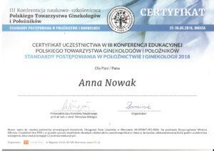 Anna Nowak - standarty w położnictwie